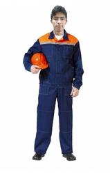 Оптом: Демисезонная спецодежда( темно-синий с оранжевой отделкой )