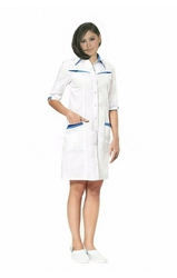Оптом: Медицинский халат для женщин укороченная модель
