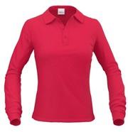 Оптом: Сорочка поло женская с длинным рукавом