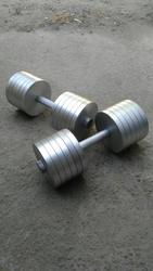 Гантели разборные каждая весом по 30, 5 кг.