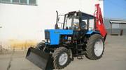 Экскаватор с жёстким бульдозерным отвалом на базе трактора МТЗ-82.1