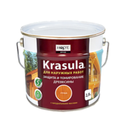 Krasula — защитно-декоративный состав для древесины
