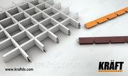 Классический грильято — стандартный решетчатый подвесной потолок