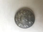 Монета 1 1/2 рубля 1863 г.